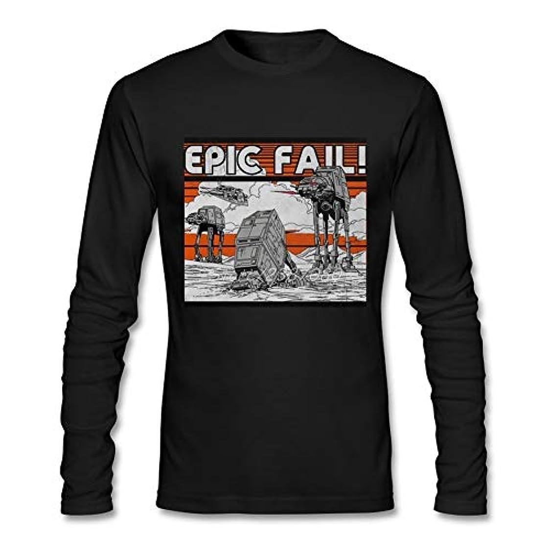 赤手書き何でもAt-at epic failスターウォーズtシャツ男性安い純粋なコットンシャツカスタムロングスリーブビッグサイズtシャツ