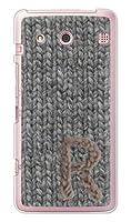 ガールズネオ au シンプルスマートフォン BASIO KYV32 ケース (毛糸 イニシャル ぐれー 粉雪 R) KYOCERA KYV32-KIT-GRY-GR_R