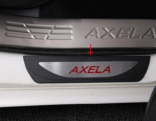 MAZDA アクセラ BM BY 対応 AXELA ステッププレート ステップを傷から守ります ドレスアップ