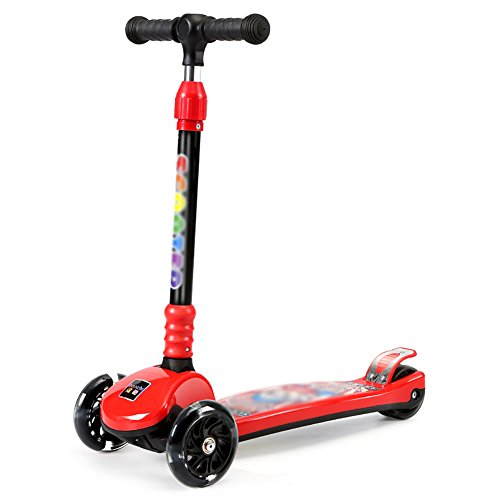 子供のスクーター3-8歳の男の子の女の子の子供の高さ調節可能...
