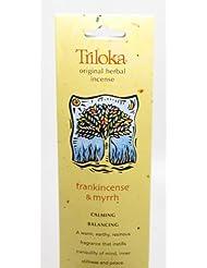 Triloka - 元の草の香Frankincense & Myrrh - 10棒