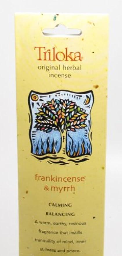 世辞故障中ソーセージTriloka - 元の草の香Frankincense & Myrrh - 10棒