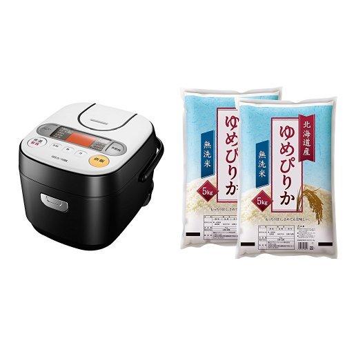 アイリスオーヤマ 炊飯器 マイコン式 銘柄炊き 5.5合 RC-MA50-B+【精米】無洗米 北海道...