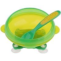 Baoblaze 全2色 ベビー食器 ボウル 吸盤ボウル 滑り止め 吸盤付き トレーニングボウル  - 緑