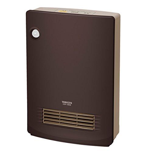 山善(YAMAZEN) 人体感知センサー付セラミックヒーター(センサー運転機能付)(消臭フィルター付) ブラウン DSF-VB081(T)