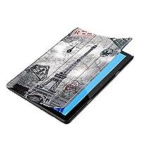 perfk Huawei MediaPad T5用パターンPU超薄型保護スタンドケースカバー - レトロタワー