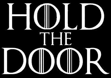 Game of Thrones Hold theドアデカールビニールsticker|cars Trucks Vans壁laptop|ホワイト|5.5X 3.5in|lli333