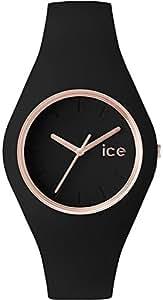 [アイスウォッチ]ICE WATCH 腕時計 ウォッチ ice glam 40mm ブラック シリコンラバーベルト クオーツ 10気圧防水 メンズ レディース [並行輸入品]