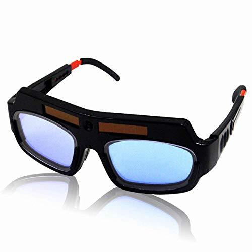 ROZZERMAN 溶接メガネ 自動斜光 溶接ゴーグル 簡単装着 サングラス型 メガネ V2 (セパレートタイプ)