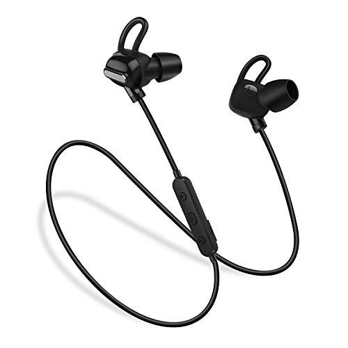 Bluetoothイヤホン 防水 ステレオ スポーツヘッドセット ノイズキャンセリング搭載 高音質 Techvilla Bluetooth 4.1ワイヤレスヘッドホン マイク付き 軽量 iPhone、iPad、Android各種対応 (Tune 2)