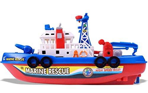 Cenda 幼児 子供 赤ちゃん 電動 船 消防艇 海賊王船 お風呂 おもちゃ 噴水 ボート 水遊び 玩具 パイレーツ 知育玩具