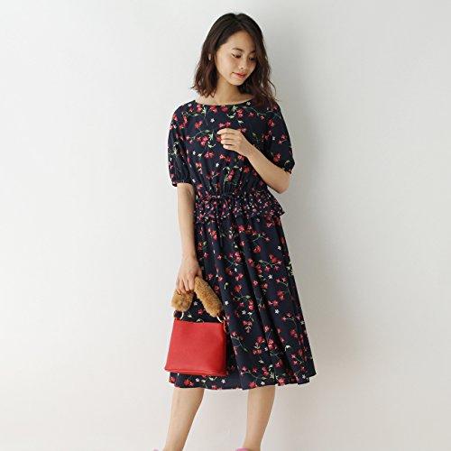 (クチュールブローチ) Couture Brooch ぺプラム切り替えワンピース 50853203 38(M) ブルー系(195)