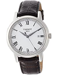 [ティソ] TISSOT 腕時計 カーソン クォーツ ホワイト文字盤 レザー T0854101601300 メンズ 【正規輸入品】