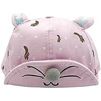 Lieteuy 子供 幼児 赤ちゃんの帽子 刺繍 可愛い 動物の耳 野球 キャップ