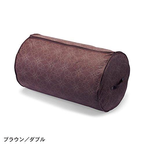 防ダニ機能付きまきまき布団収納袋  ブラウン シングル
