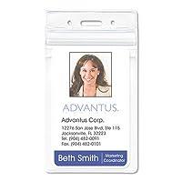 Advantus 75524Resealable IDバッジホルダー、垂直、25/ 8W X 33/ 4h、クリア、50/パックby Advantus