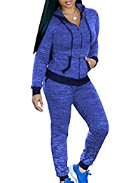 AngelSpace 女性スリムカジュアルチュニックスウェットシャツジョガーパンツの衣装