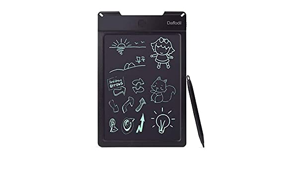 LCD Writing Tablet Daffodil WT100-9 inch Digital Graphics Board with Double-Ended Writing Pencil Black