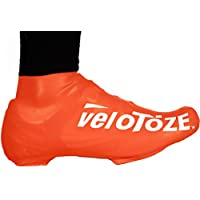 Velotoze Short Bike Shoe Covers Viz Orange 2016
