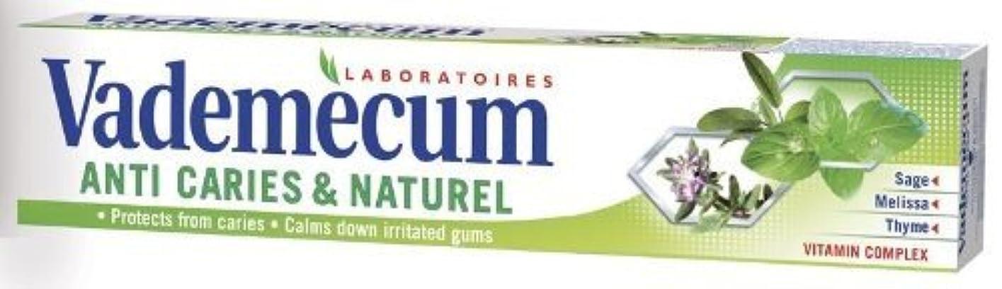 用量割合実験をするVademecum (バデメクン) シュワルツコフヘンケル Anti Cavity & Naturel Herbal Toothpaste 75ml ハーブの歯磨き粉 3個入り [ドイツ製] [並行輸入品]
