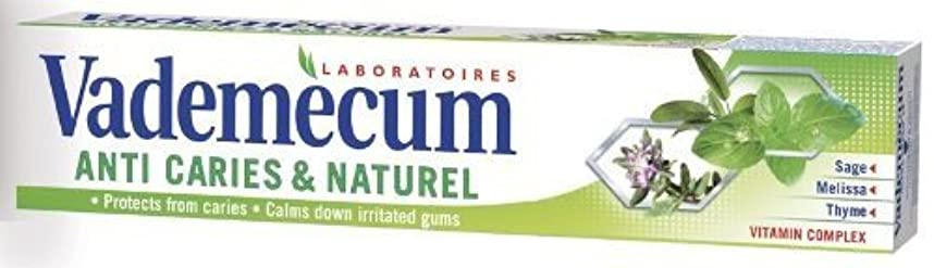 純正そして受益者Vademecum (バデメクン) シュワルツコフヘンケル Anti Cavity & Naturel Herbal Toothpaste 75ml ハーブの歯磨き粉 3個入り [ドイツ製] [並行輸入品]