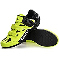 Santic Cycling Shoes Men SPD Spin Unlocked Bike Bicycle Road Biking Lock Shoes MTB Cycling Accessories Self-Locking Shoes