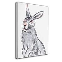 King Duck ウサギ 絵画 インテリア インナー フレーム装飾画 アートフレーム 額縁なし アートボード キャンバスアート 壁画 アートパネル 壁掛け 木枠付き