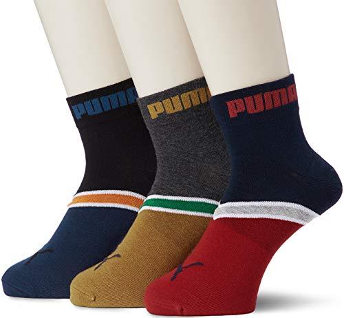 プーマ () ライン柄 ショート丈 メンズ ソックス 靴下 3足組 24-26cm 26-28cm