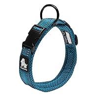 QYS ペット犬の首輪、無色の大中型犬オックスフォード材料亜鉛合金プルバックル快適メッシュペットの製品 (色 : #4, サイズ さいず : Xs xs)