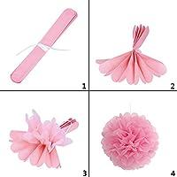 ペーパーポンポン 紙花 10個 色ティッシュペーパーポンポンプスフラワーボール誕生日結婚式パーティーベビーシャワーデコレーション