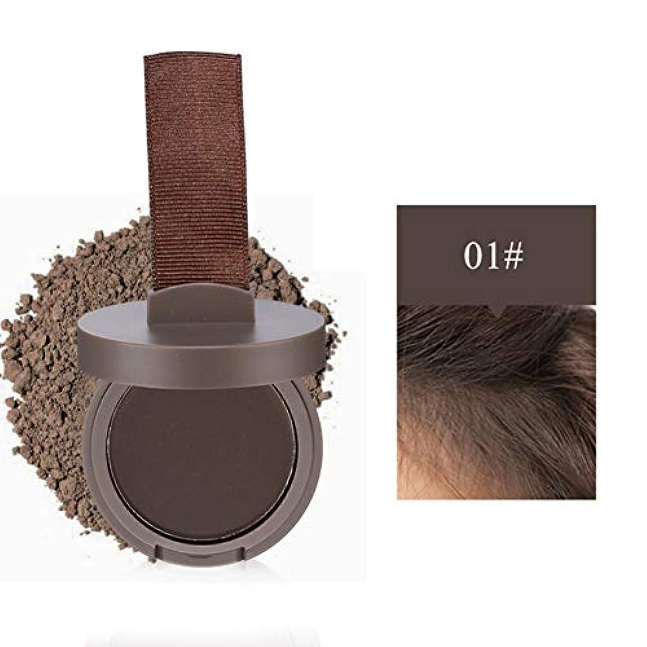 商標供給精通したヘアラインシャドーパウダー ヘアカラーパウダー 髪パウダー白髪をカバー 防水 シャドウパウダー 補充用 男女兼用 深灰色浅棕色红棕色 Cutelove