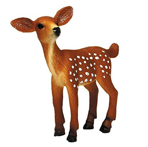 プラッツ My Little Zoo オジロジカ (子) 全長約75mm 彩色済み動物フィギュア MJP387036