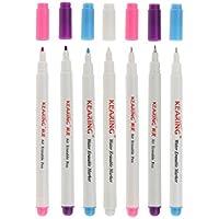 Homyl 0.5 / 1mm マルチカラー 空気/水 消去可能な ペン 裁縫 マーカー用 工具 7本入り