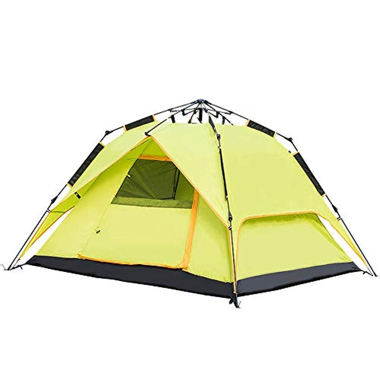 郊外スロベニア些細屋外テント、全自動テント、二重層、防水、通気性、3?4人,D