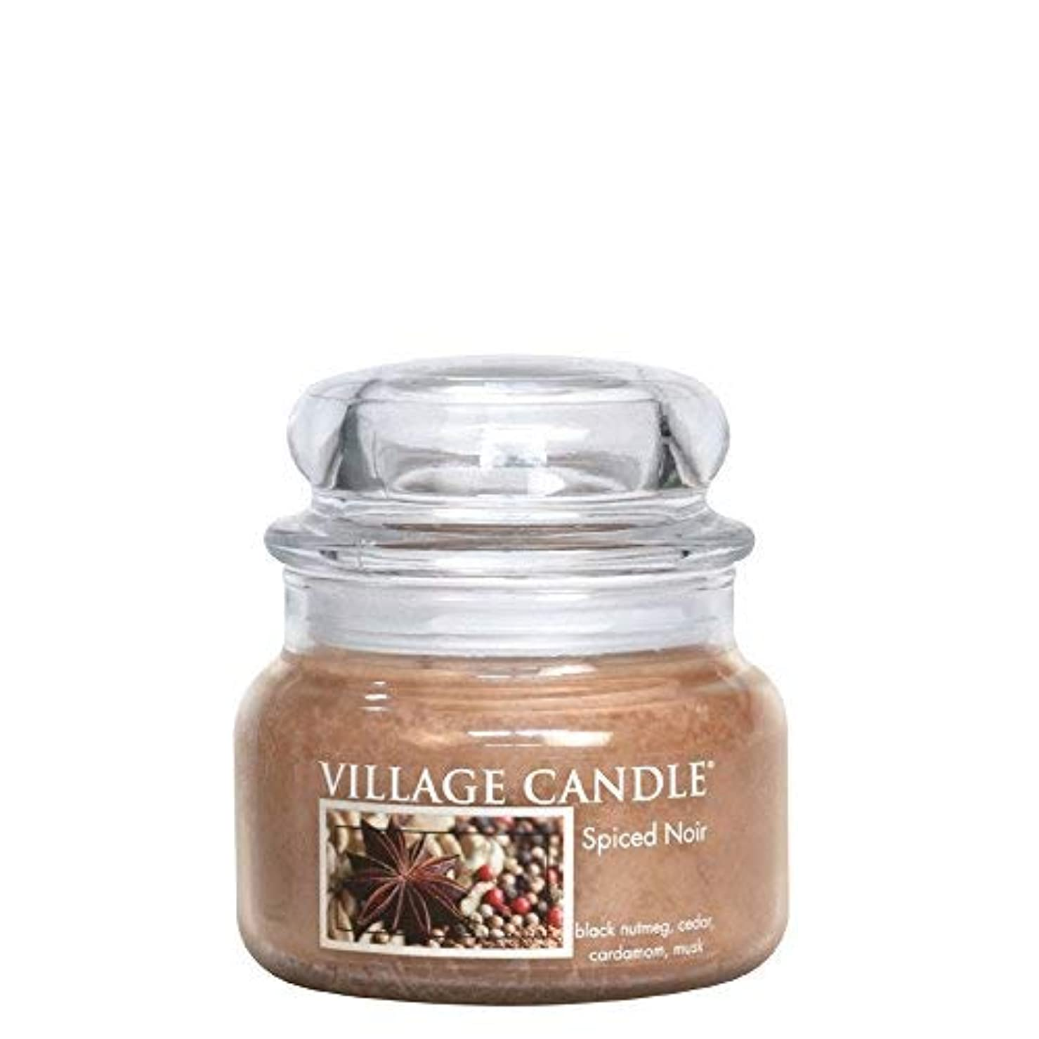 友だちいっぱいタヒチVillage Candle Spiced Noir 11 oz Glass Jar Scented Candle Small [並行輸入品]
