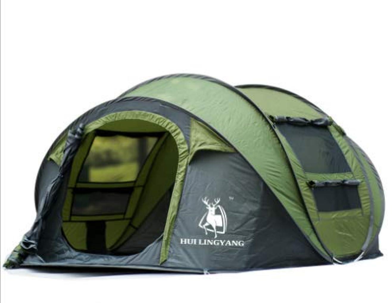 明示的に橋なくなるFeelyer 3-4人屋外自動キャンプキャンプテント速いキャンプ簡単にインストールする日除けテント 顧客に愛されて (Color : グリーン)