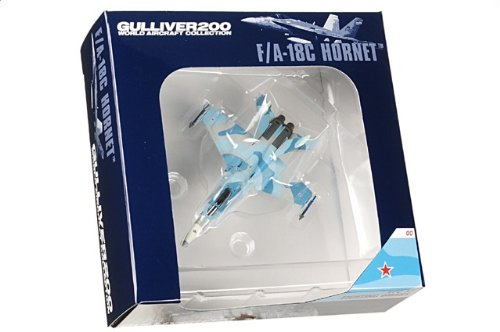 1:200 ガリバーワールド 飛行機 コレクション WA22104 マクドナルド ダグラス F/A-18C Hornet ダイキャスト モデル USN VFC-12 Fighting Omars AF