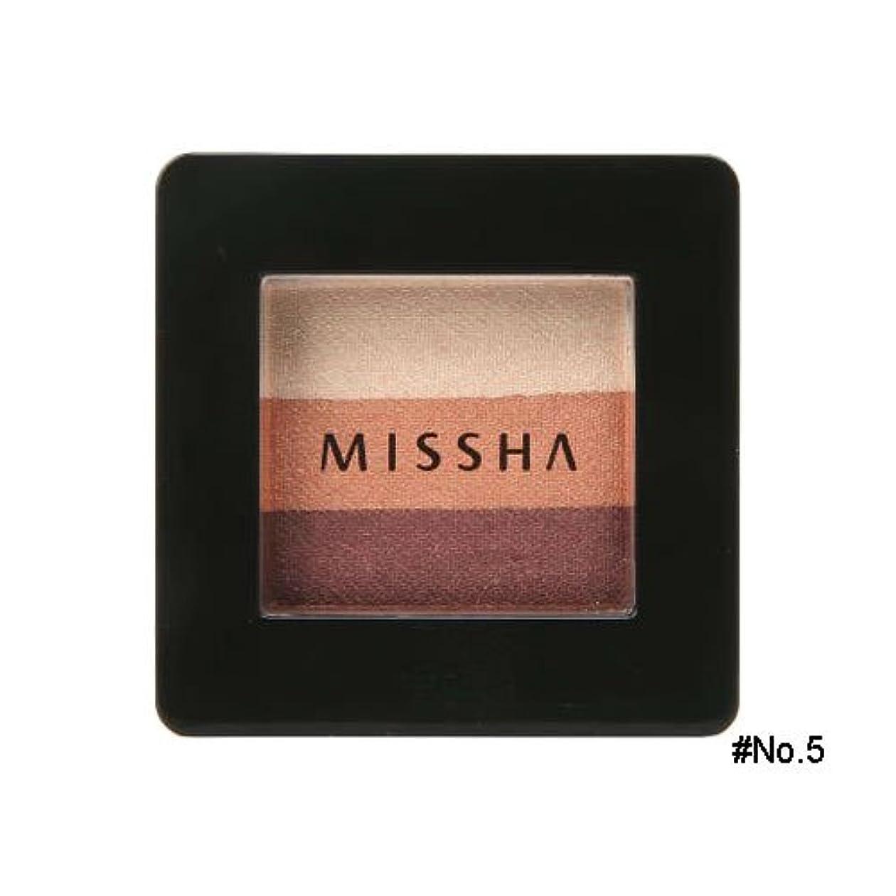 パトワたっぷり平行ミシャ(MISSHA) トリプルシャドウ 2g No.5(ビンテージプラム) [並行輸入品]