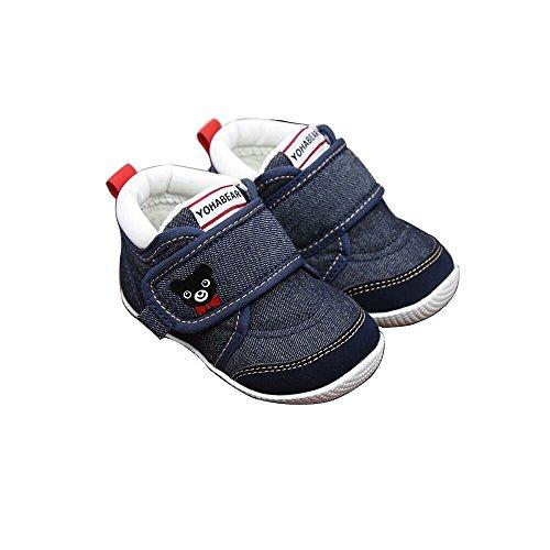 ファーストベビーシューズ ベビー靴 選べる3色 (12.0cm, インディゴブルー)