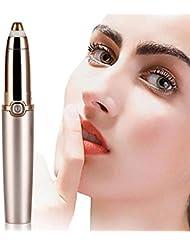 眉毛リムーバー、ポータブル精密電動眉毛トリマー、眉毛除去かみそり痛みのない女性のためのトリマー