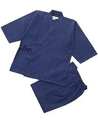 江戸てん 作務衣 久留米紬織り 日本製 高級 素材からこだわりました つむぎ メンズ
