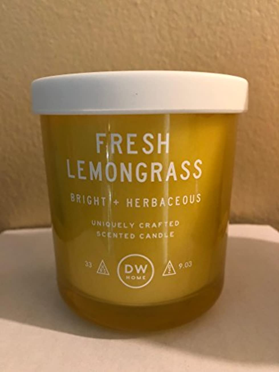 そんなに継承理論的DWホームフレッシュレモングラス香りつきMedium Single Wick Candle