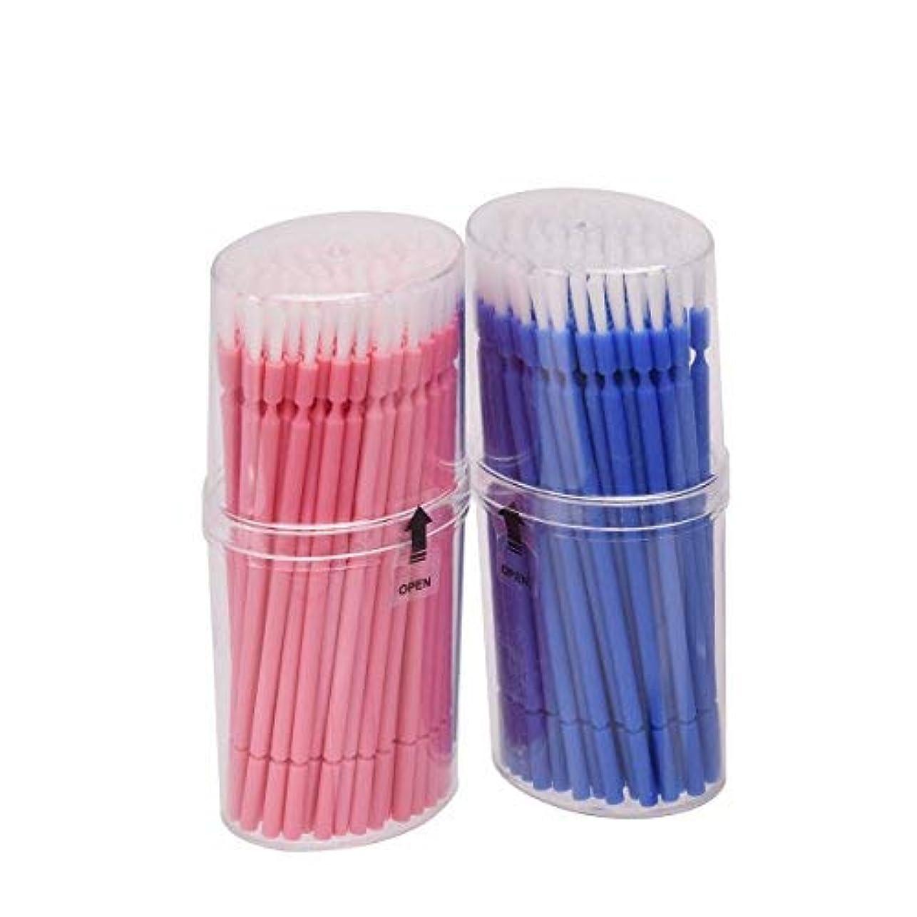 その間めんどり裸マイクブラシ 歯科ブラシ 精密機器の細部の清掃など 幅広く使える 使い捨て 4 * 100=400本入り Annhua