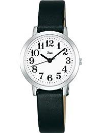 [セイコー]SEIKO 腕時計 RIKIWATANABE リキワタナベ カーブ無機ガラス 日常生活用防水 クオーツ 牛皮革 (カーフ) AKQK408 レディース