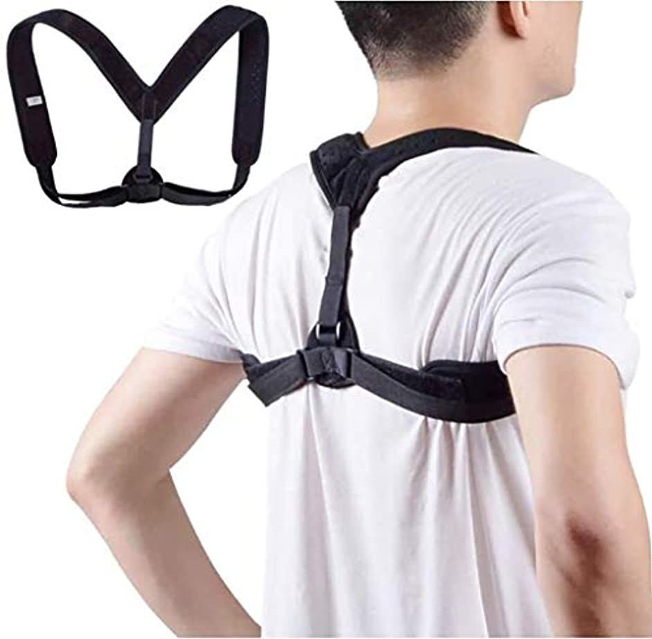 額取り壊す安息背中のサポート、正しい姿勢、悪い姿勢の改善、気質の改善、痛みの緩和、ハンチバックの防止、休息/仕事/スポーツに適しています (Size : L)