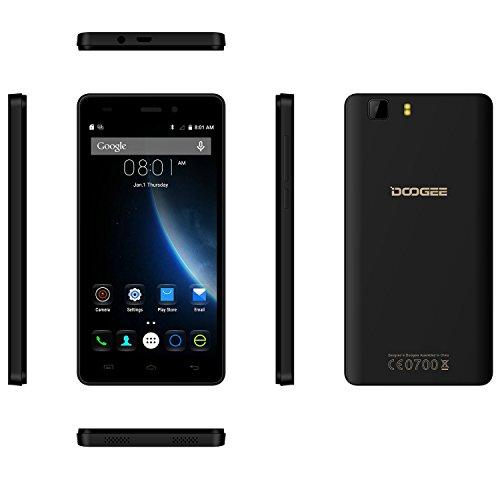 SIMフリースマートフォン, DOOGEE X5 (5.0インチHD IPS スクリーン 3G (au不可) Android 6.0 MT6580 クアッドコア8GB ROM 5MPカメラ GPS Xender) スマートフォン本体 黒