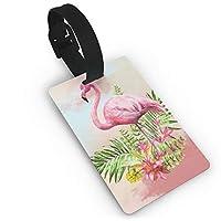RIRIBOC 荷物タグCouple Flamingos スーツケース ネームタグ 荷物 タブ ネームホルダー 番号札 - カラフルOne Size 紛失防止 スーツケースタグ 出張 旅行用 カバン装飾 色やスタイルの様々なRIRIBOC