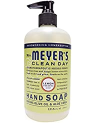 Mrs. Meyer's Hand Soap Lemon Verbena, 12.5 Fluid Ounce (Pack of 3) by Mrs. Meyer's Clean Day