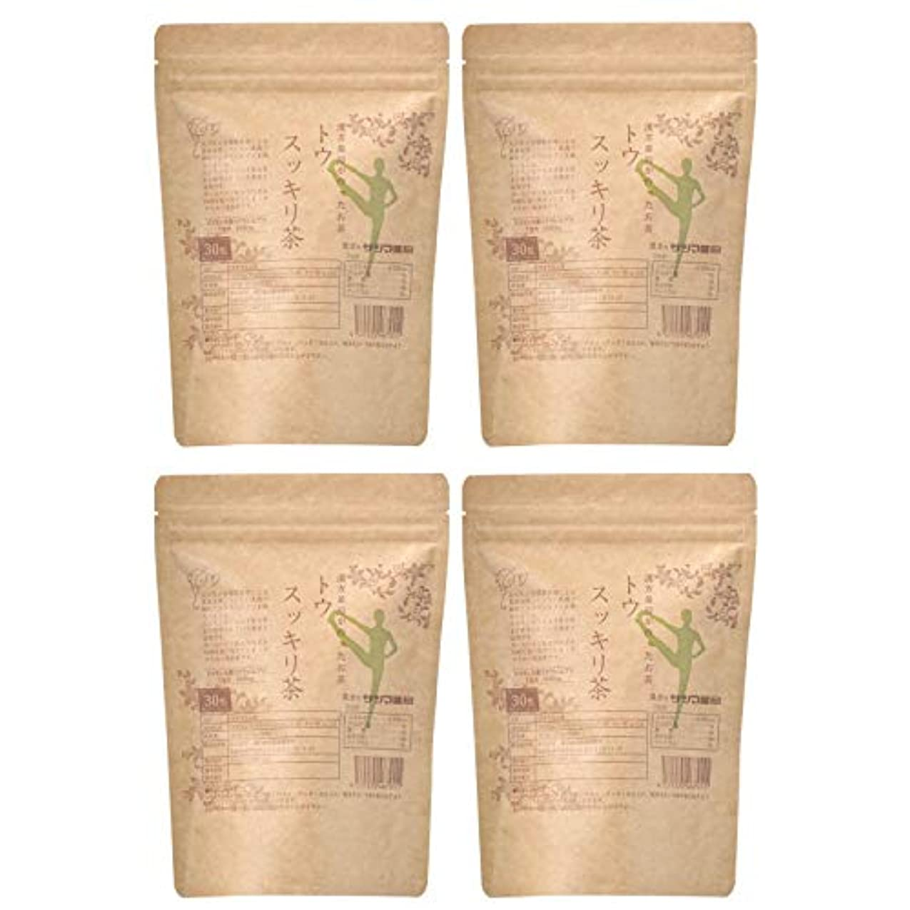 個人複合絞るサツマ薬局 ダイエットティー トウスッキリ茶 120包(30包×4) ティーパック 高濃度コタラヒム茶 ほうじ茶