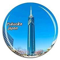 福岡タワー日本冷蔵庫マグネット3Dクリスタルガラス観光市旅行お土産コレクションギフト強い冷蔵庫ステッカー
